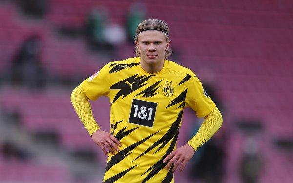 Sports Erling Haaland Soccer Player Borussia Dortmund HD Wallpaper | Background Image