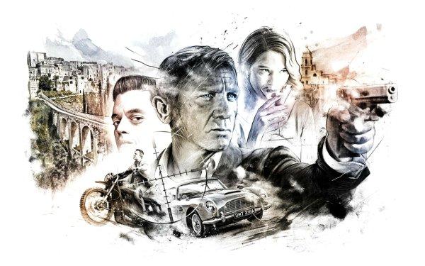 Movie No Time to Die James Bond Daniel Craig Rami Malek Léa Seydoux HD Wallpaper   Background Image