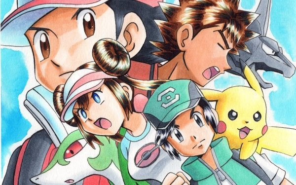 Video Game Pokémon Masters EX Pokémon Red Brock Pikachu Onix Scottie Rosa Serperior HD Wallpaper   Background Image