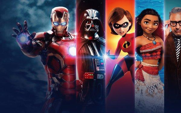 Películas Disney Iron Man Darth Vader Elastigirl Moana Waialiki Jeff Goldblum Fondo de pantalla HD | Fondo de Escritorio