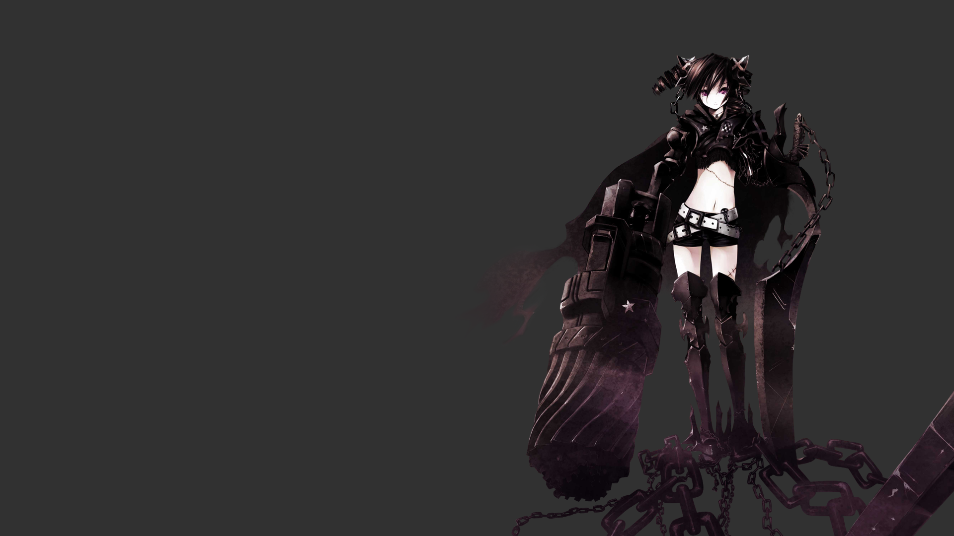 Black rock shooter full hd wallpaper and background image - Anime girl full hd ...