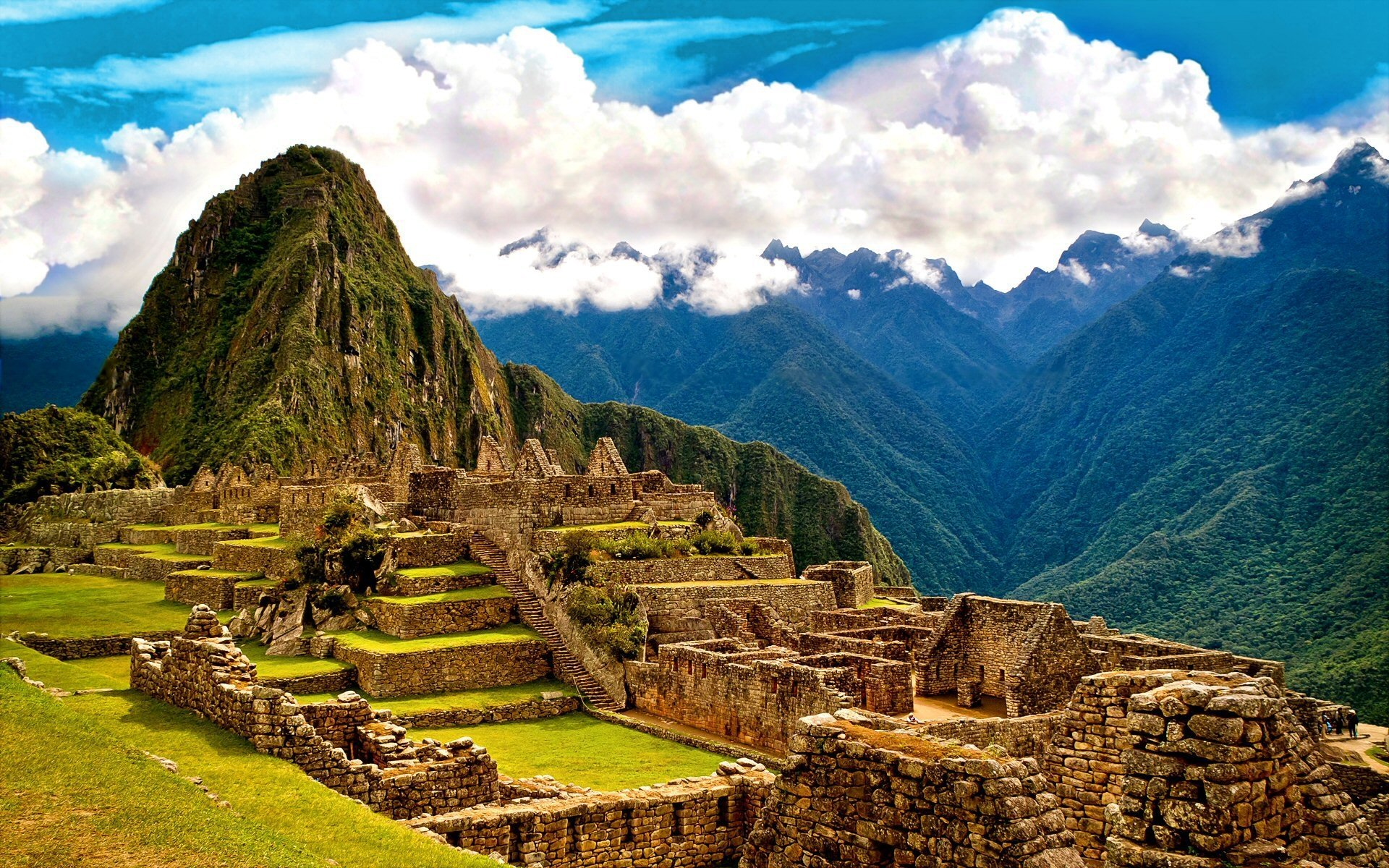 Man Made - Machu Picchu  Ruin Mountain Sunny Inca Cloud Wallpaper