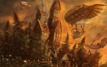 Fantasy - Gebäude Wallpapers and Backgrounds ID : 299928