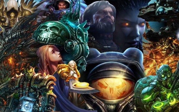 Video Game Collage Diablo World of Warcraft Starcraft Blizzard Entertainment HD Wallpaper | Background Image