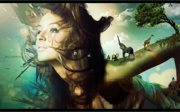 Photography Manipulation Psychedelic 3D CGI HD Wallpaper | Background Image
