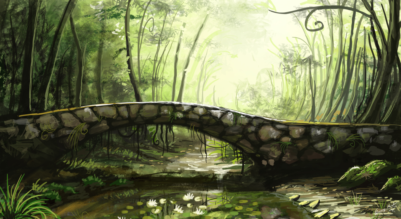 Landscape full hd wallpaper and background image - Fantasy wallpaper bridge ...