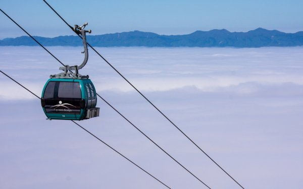 Vehicles Cable Car Tram Cloud Fog Mountain HD Wallpaper | Background Image