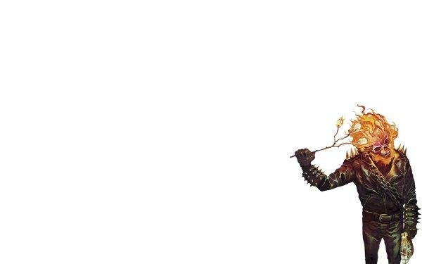 Humor Películas Ghost Rider Blanco Halloween Fondo de pantalla HD | Fondo de Escritorio