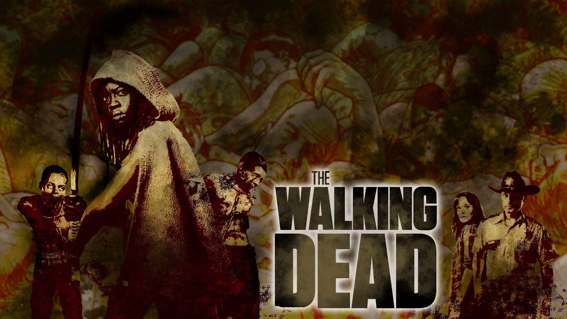 the walking dead full hd wallpaper and background