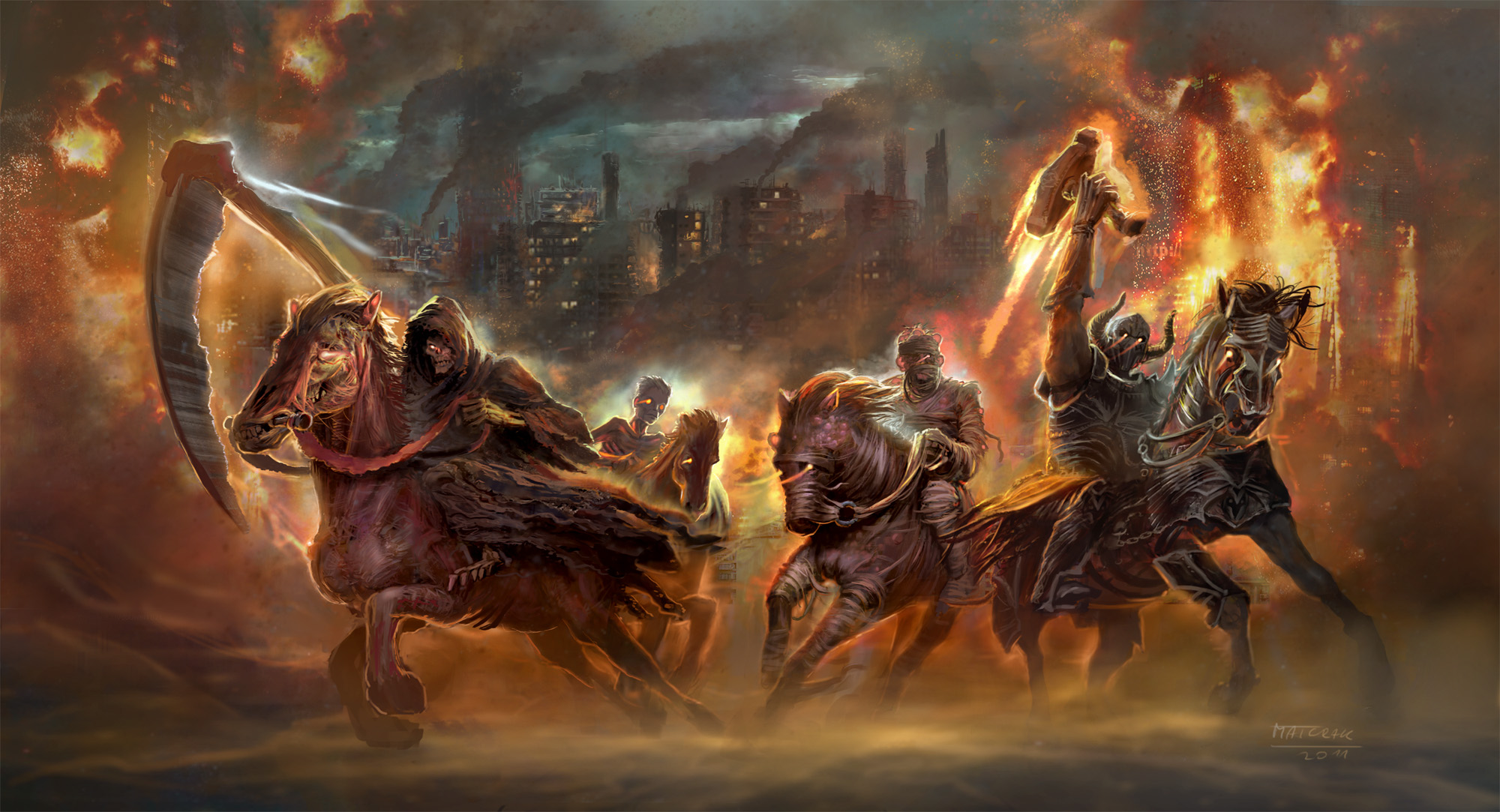 The Four Horsemen Of The Apocalypse Hd Wallpaper Background Image