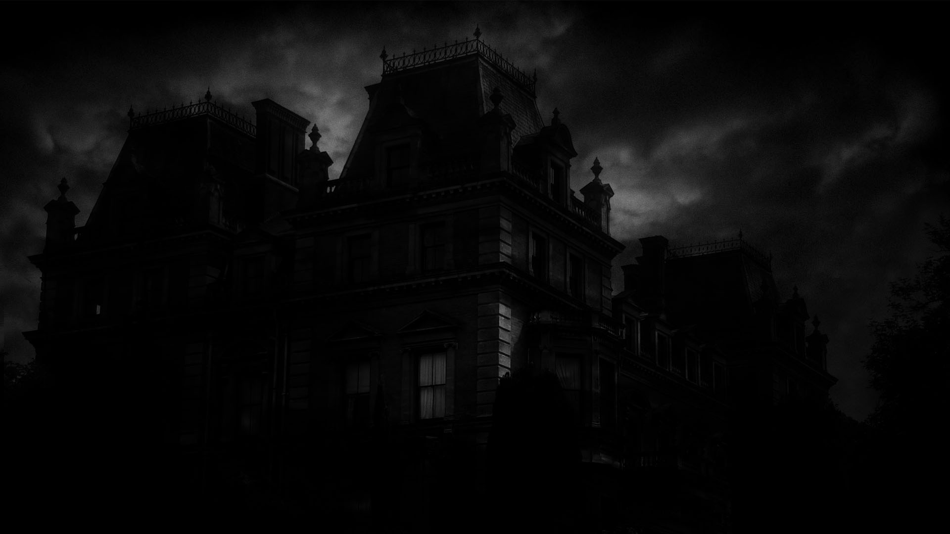 Spooky mansion computer wallpapers desktop backgrounds 1920x1080