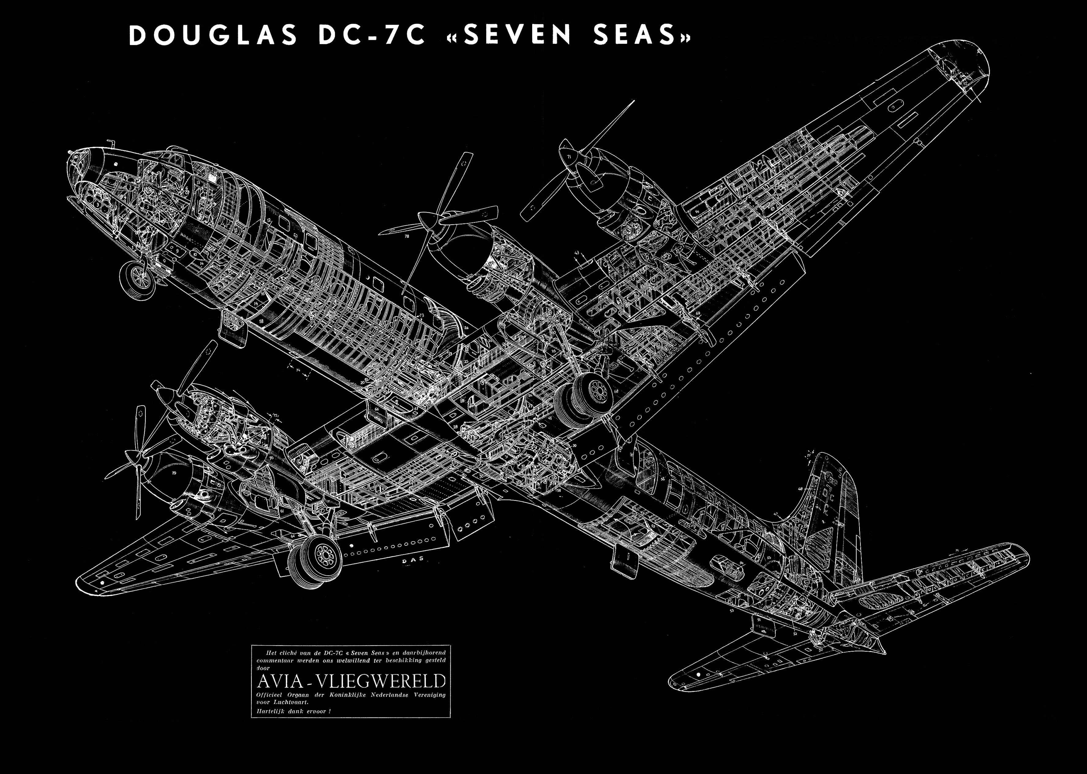 Douglas DC-7C Seven Seas HD Wallpaper | Background Image ...