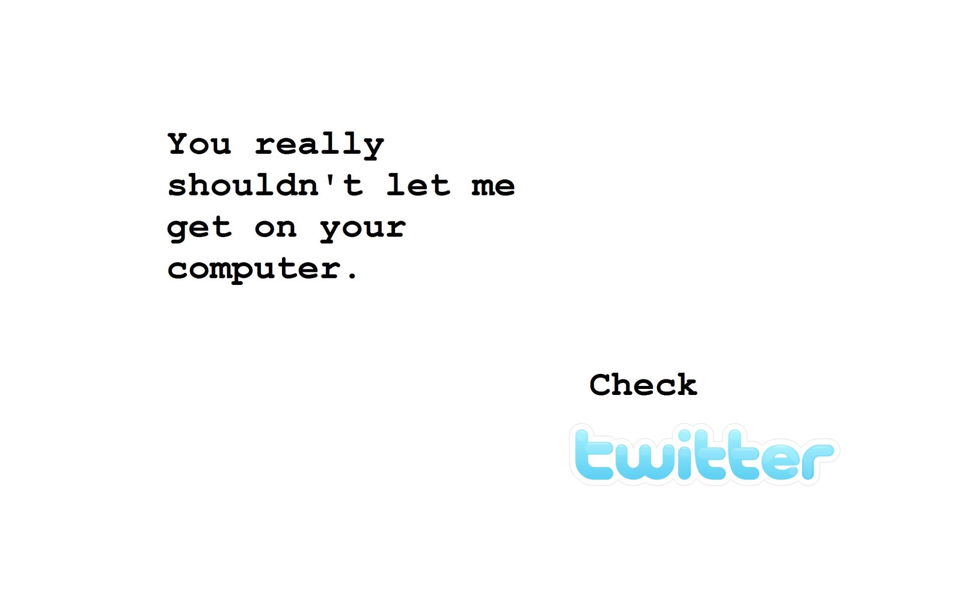 Humor - Computer  Twitter Wallpaper