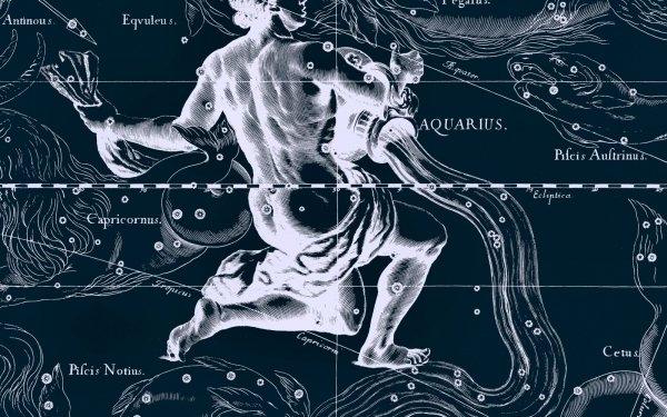 Fantasy Zodiac Zodiac Sign Horoscope Aquarius HD Wallpaper | Background Image
