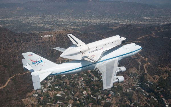 Vehicles Space Shuttle Endeavour Space Shuttles Shuttle Airplane NASA Hollywood Hills Space Shuttle HD Wallpaper   Background Image