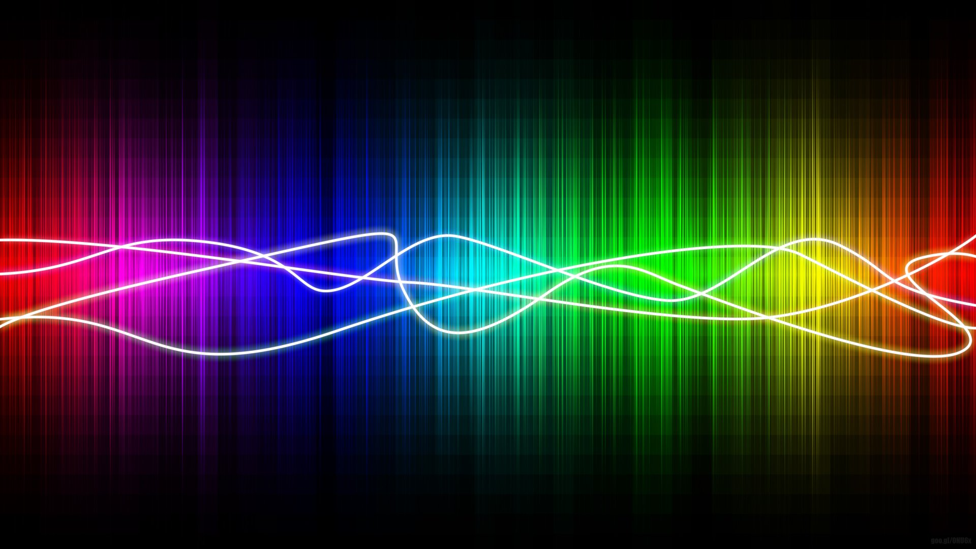 Abstract - Colors  Rainbow Spectrum Lines Dark Abstract Wallpaper