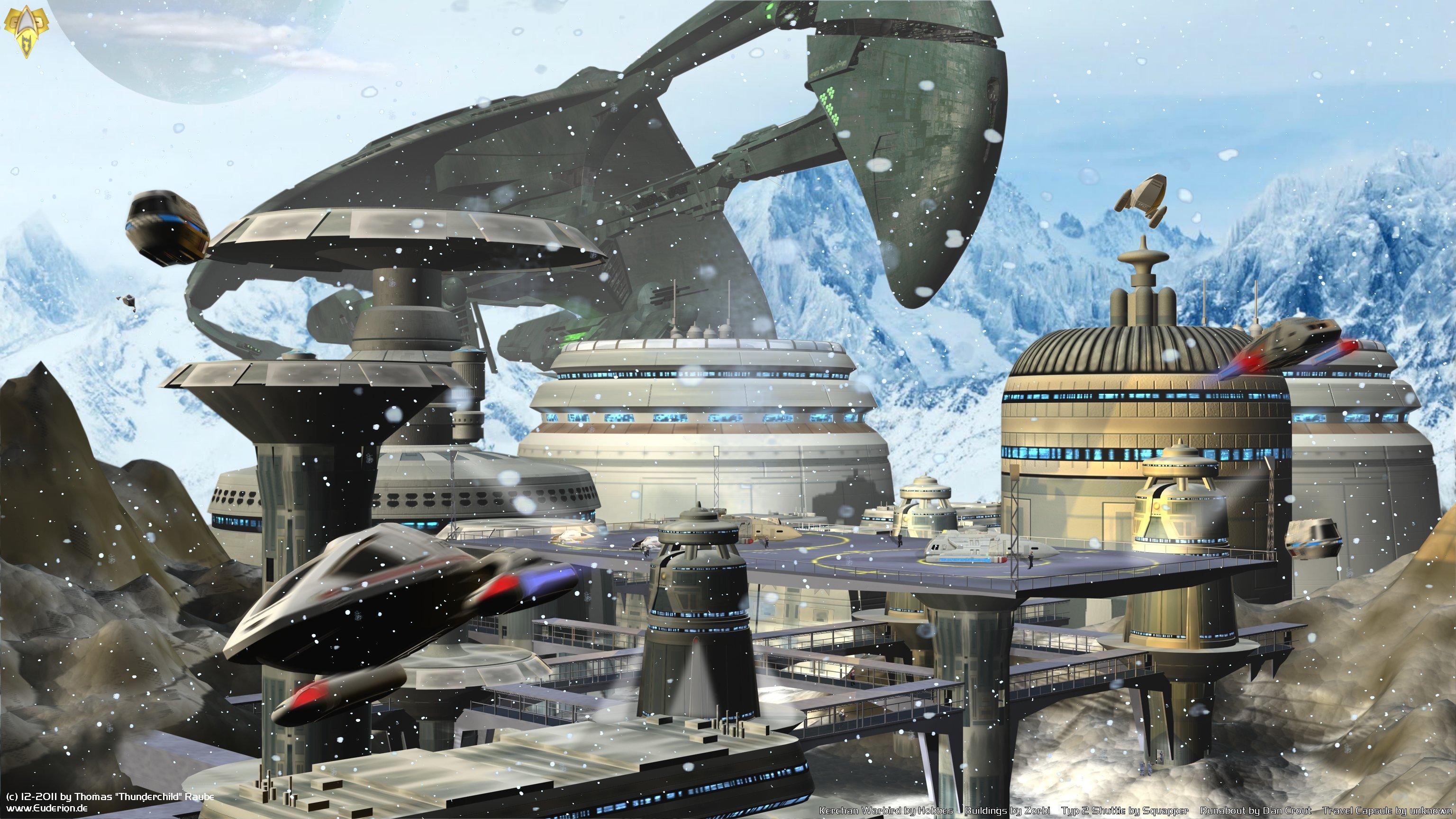 Sci Fi - Star Trek  Space Sci Fi Shuttle Snow Trek Romulan Wallpaper