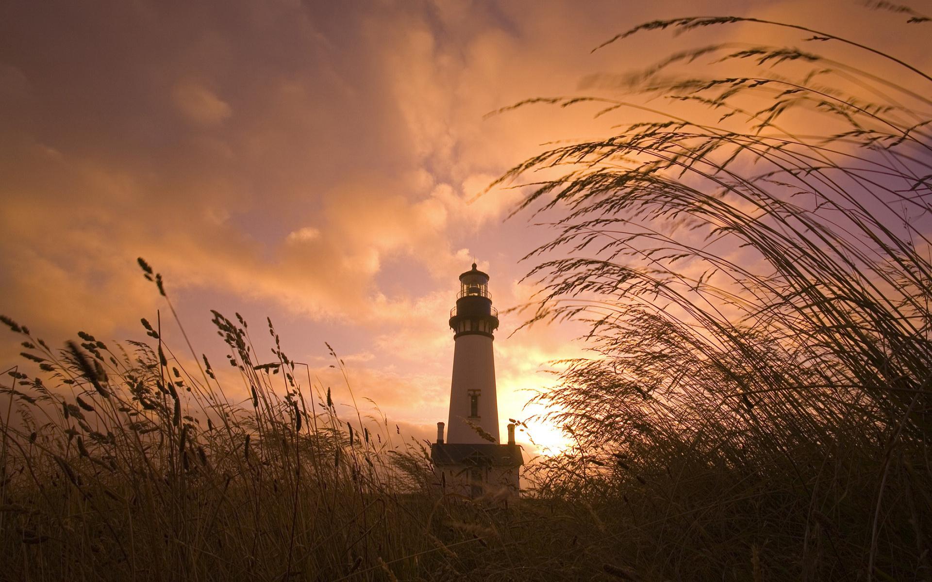 Man Made - Lighthouse  Sunrise Sunset Wallpaper