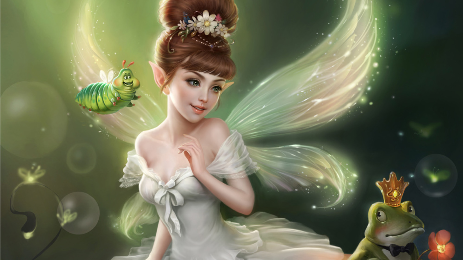 The Fairy And That Frog Prince Full HD Wallpaper Background