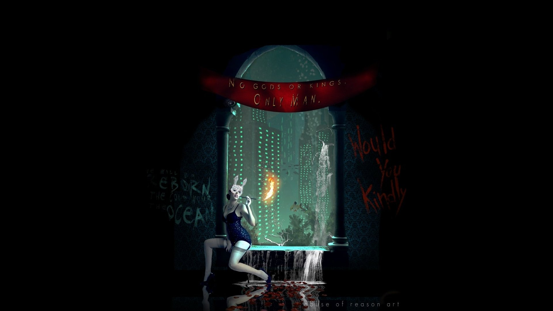 Video Game - Bioshock  Manipulation CGI Digital Art Cosplay Woman Sci Fi Wallpaper