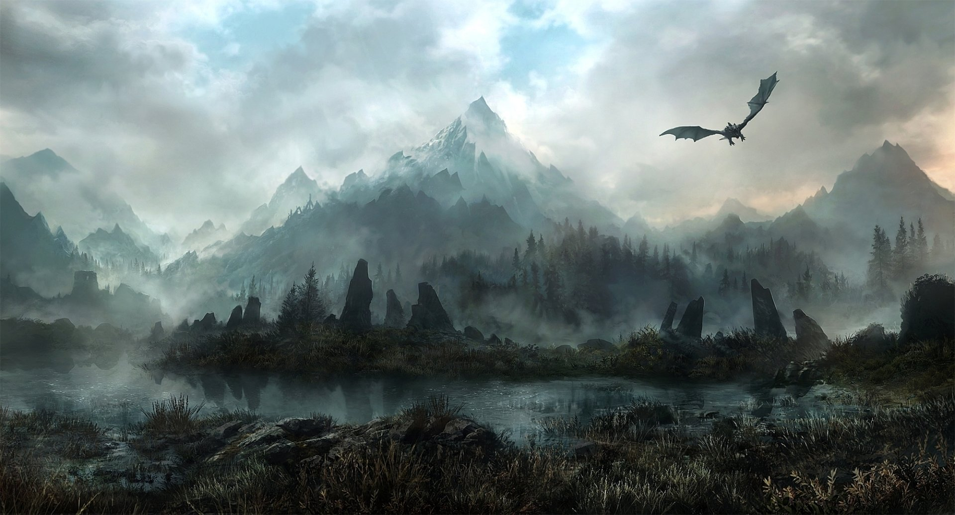 Video Game - The Elder Scrolls V: Skyrim  Landscape Mountain Wallpaper