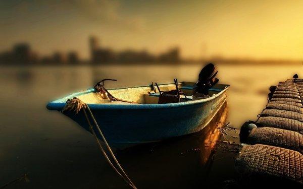Vehicles Boat Tilt Shift Sunrise Sunset HD Wallpaper | Background Image