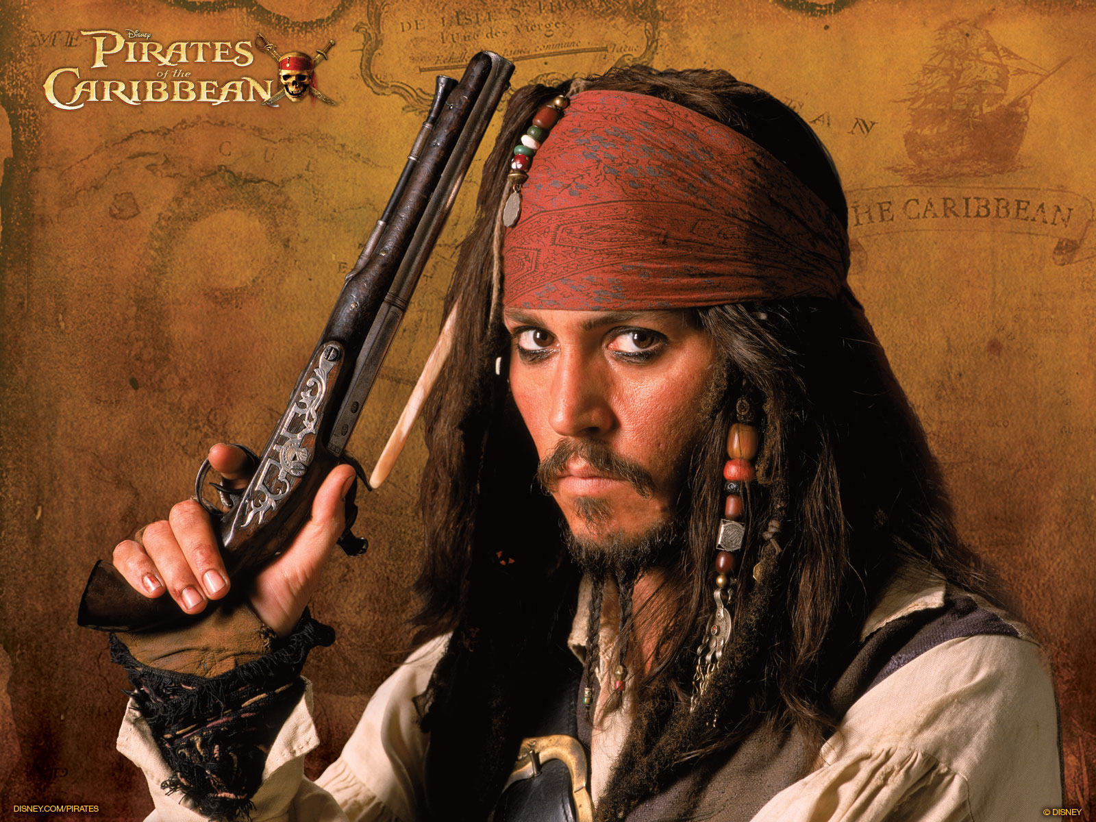 Johnny Depp As Captain Jack Sparrow Wallpaper And