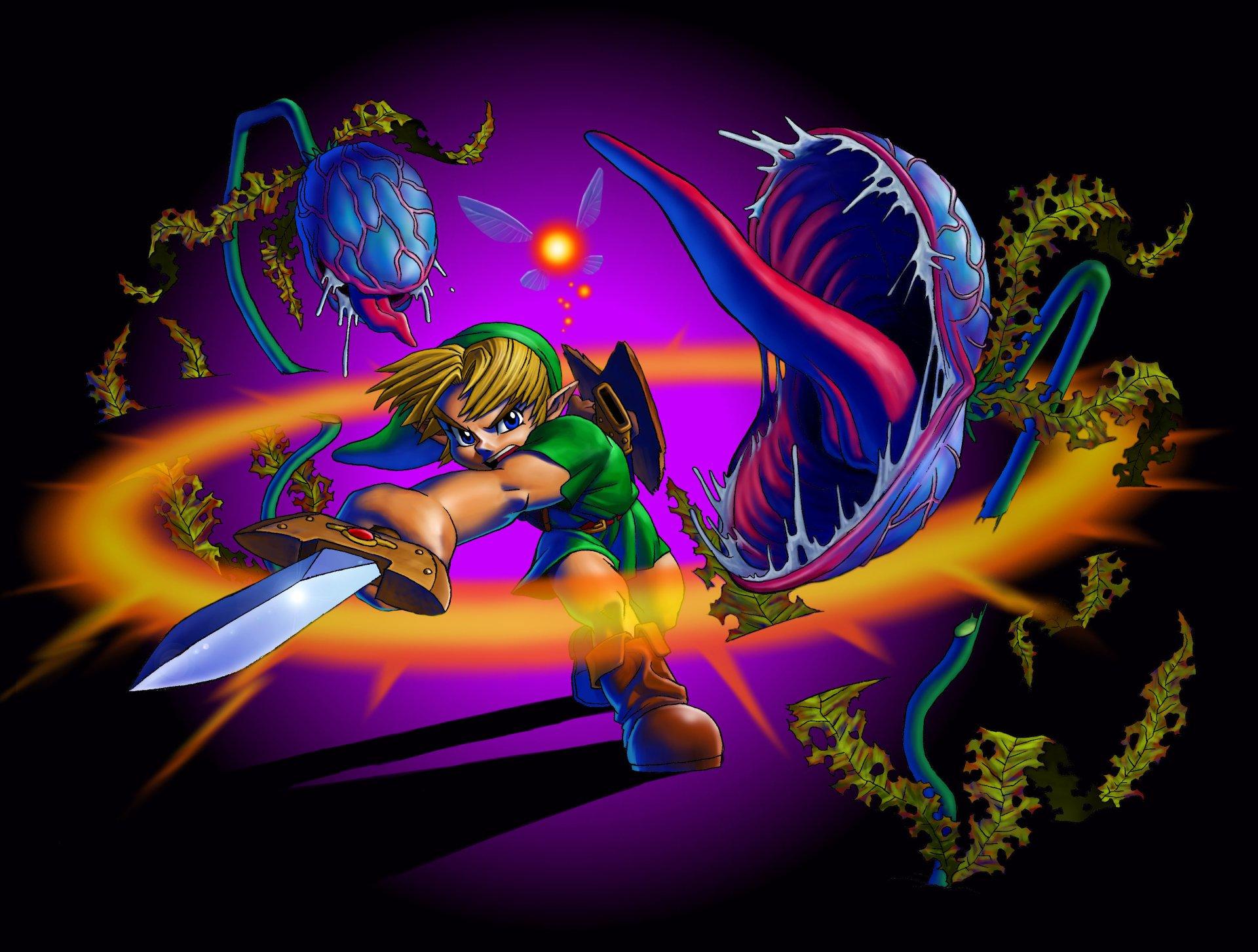 Jeux Vidéo - The Legend Of Zelda: Ocarina Of Time  Link Fond d'écran