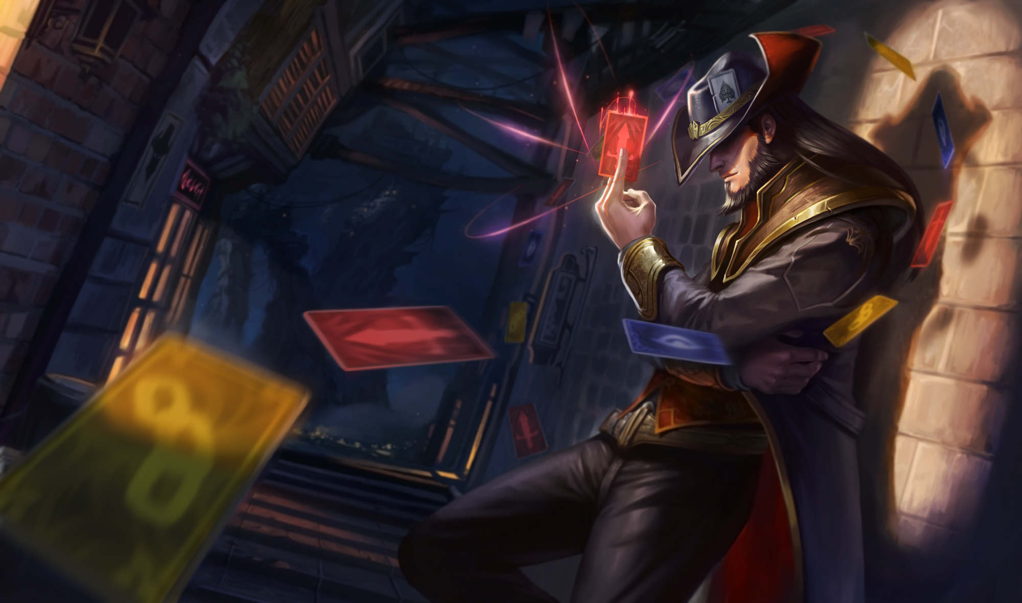 League Of Legends Twisted Fate HD Wallpaper