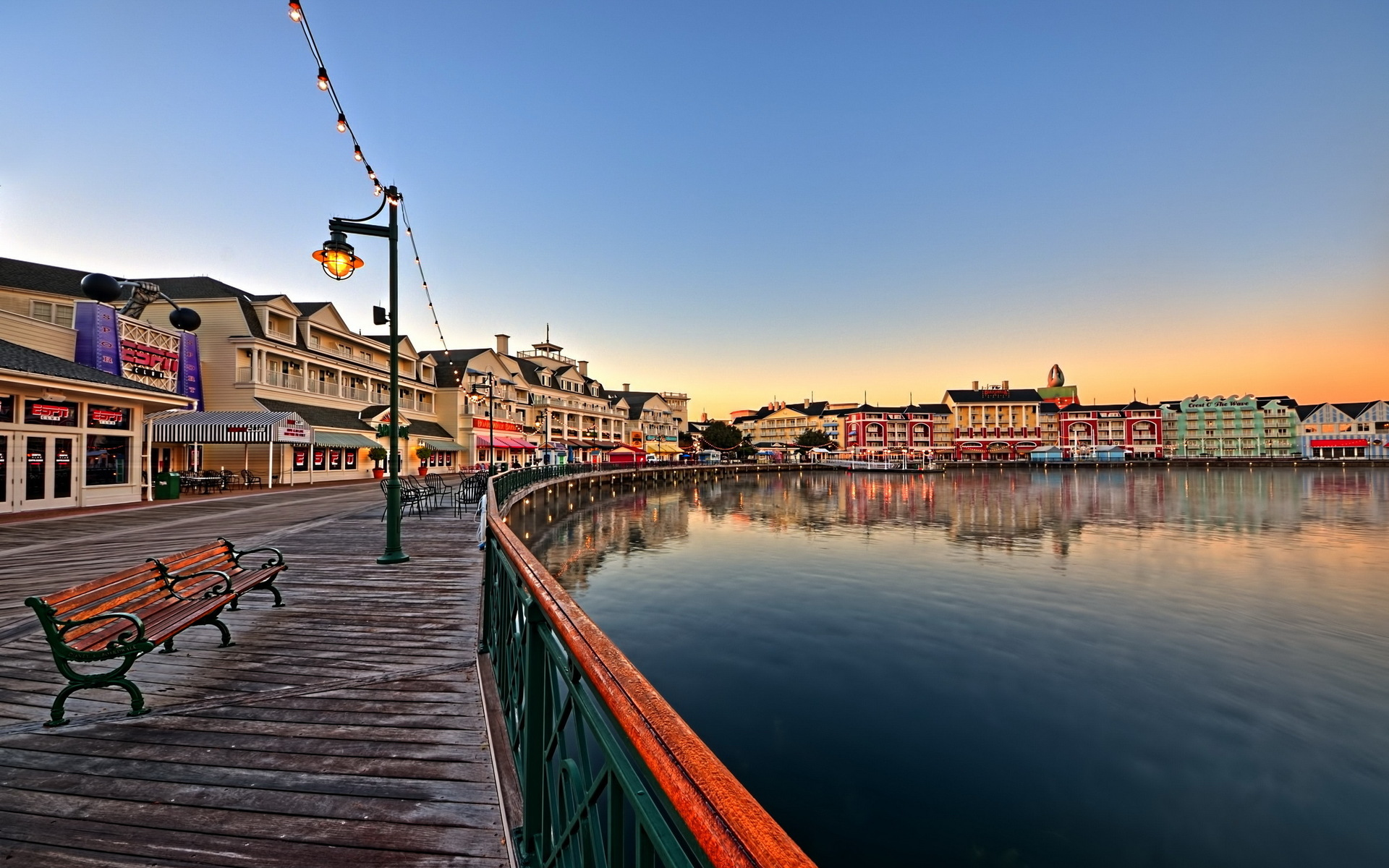 Disney S Boardwalk Epcot Resort Area Walt Disney World Resort Hd