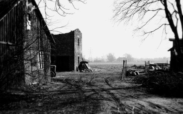 Fotografía Blanco y negro Granero Granja Fondo de pantalla HD | Fondo de Escritorio