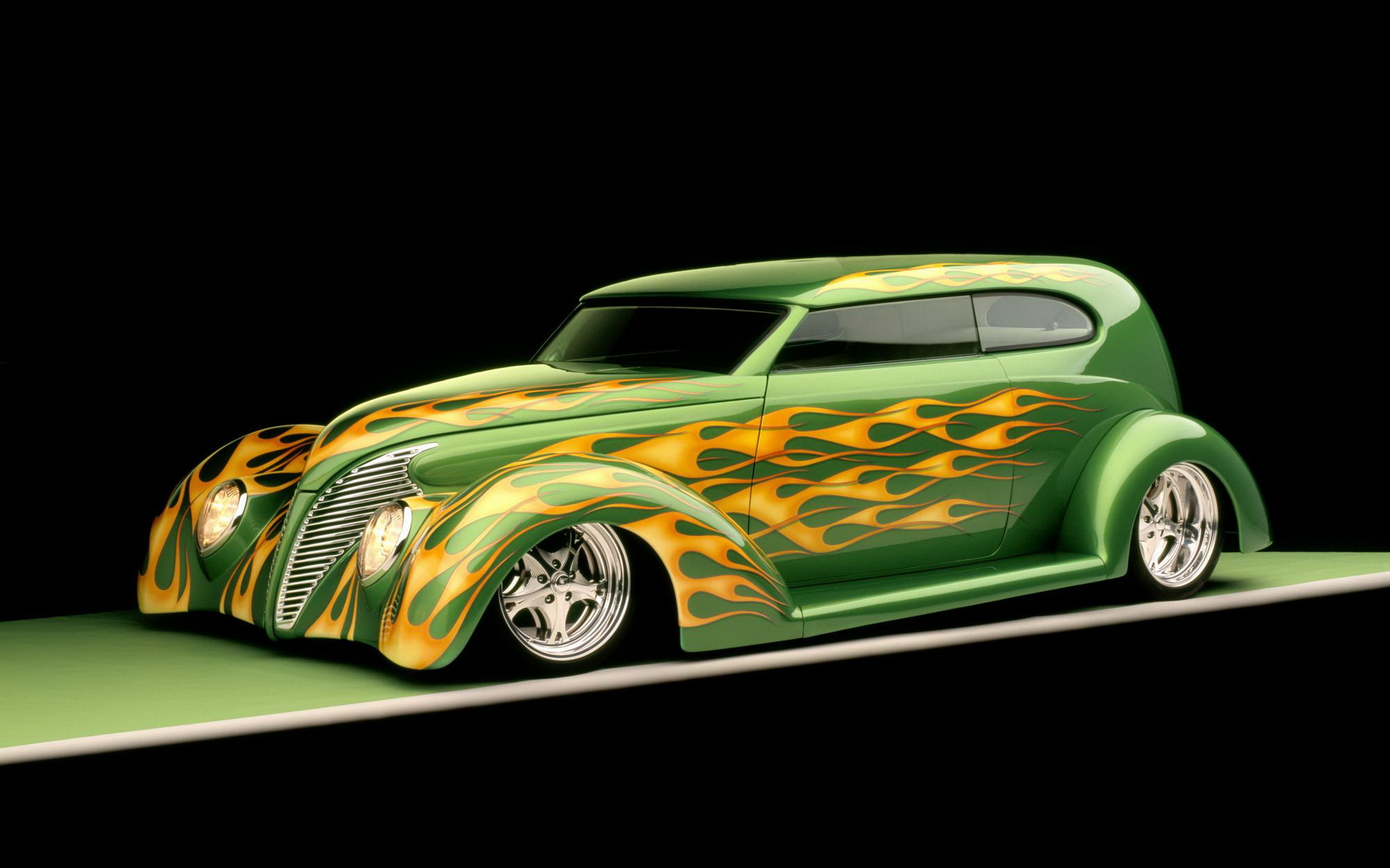 Green Car From Cars: 1939 Ford Sedan Wallpaper And Background Image