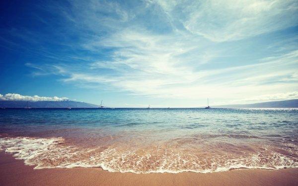 Earth Beach Ocean Sea Tropical Boat Sailing Sailboat Sky Cloud HD Wallpaper | Background Image