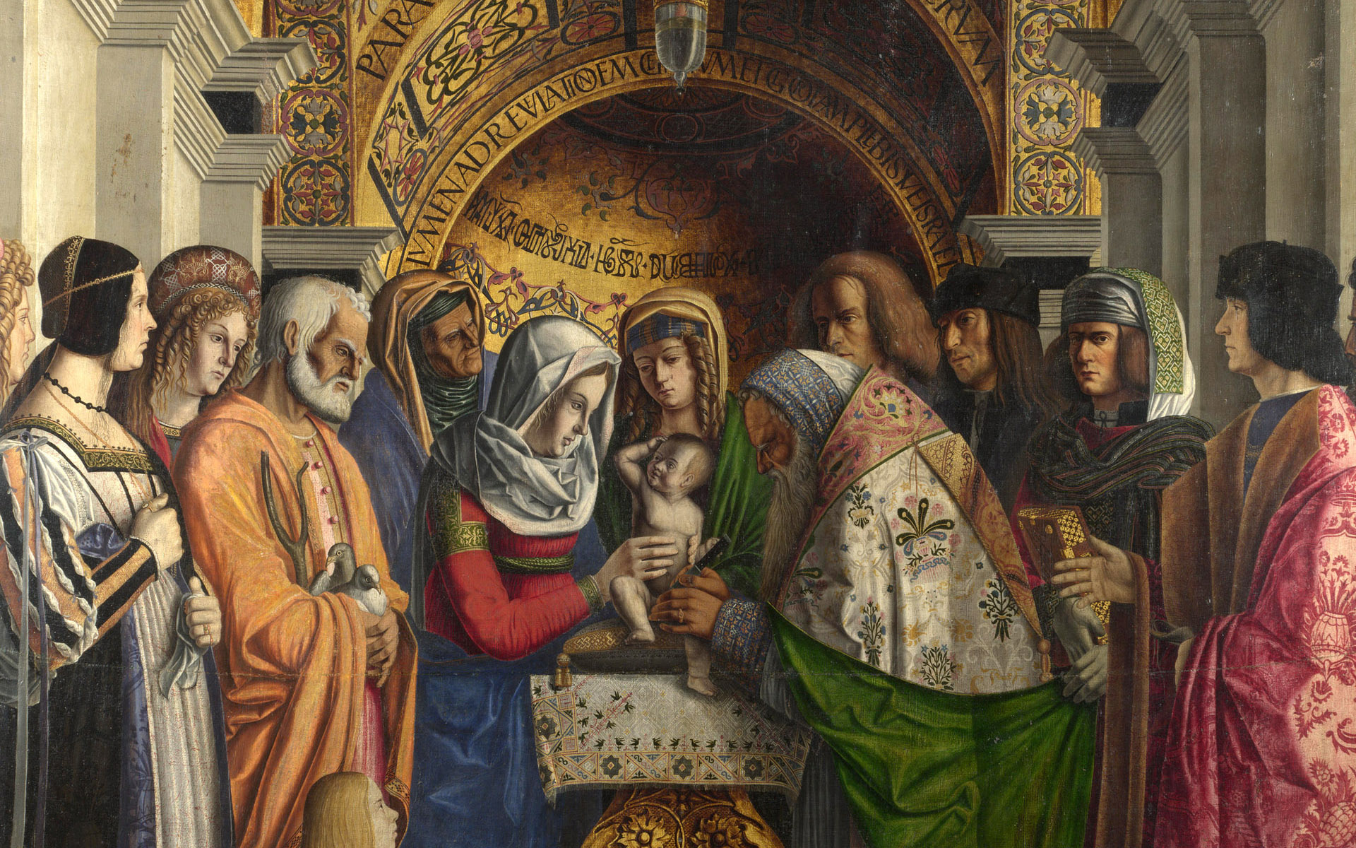 The circumcision full hd wallpaper and background for Christian mural paintings