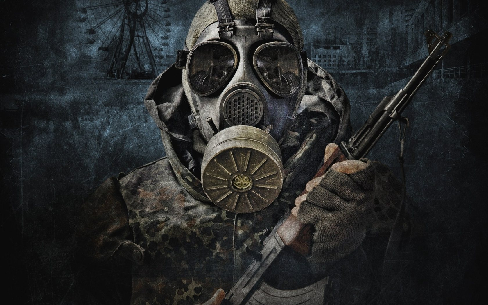Radioactive Zombie Wallpaper Gas Mask Wallpaper and...