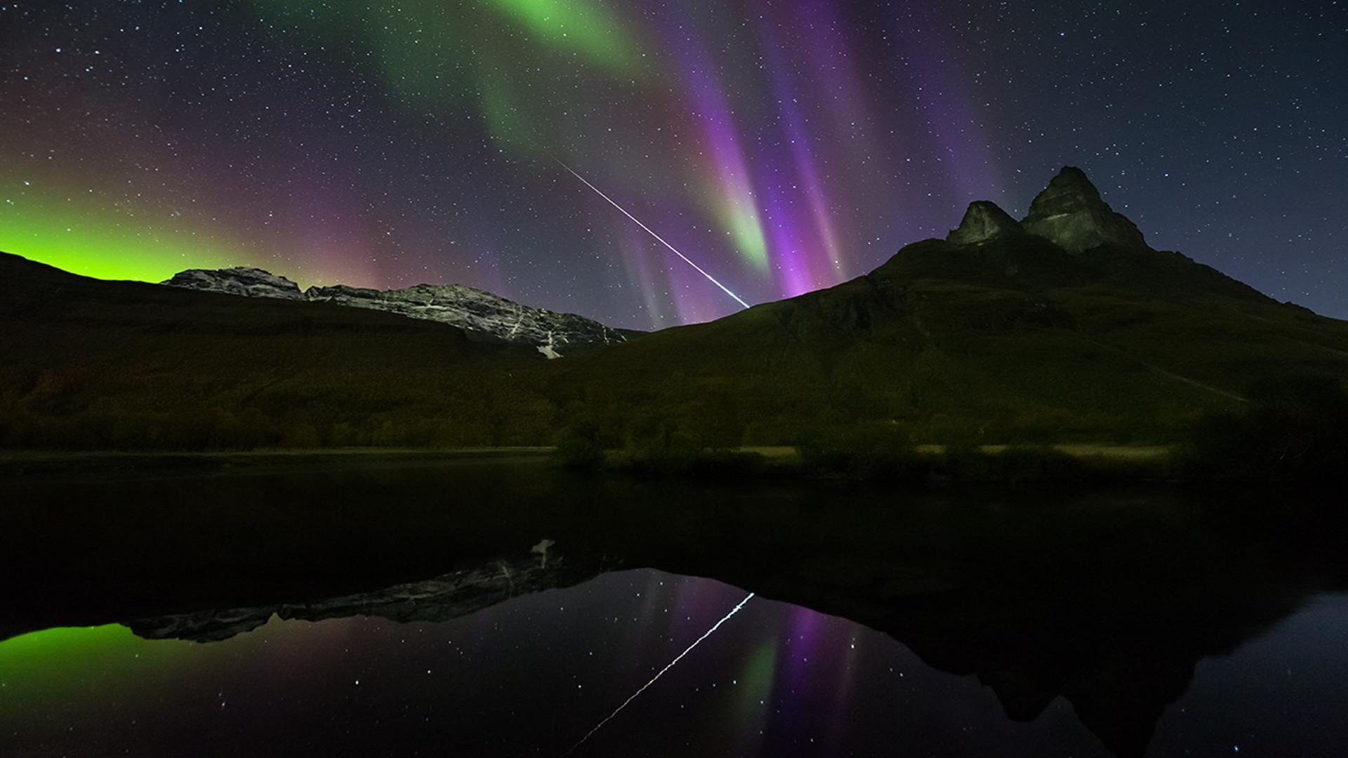 aurora borealis full hd wallpaper and background image