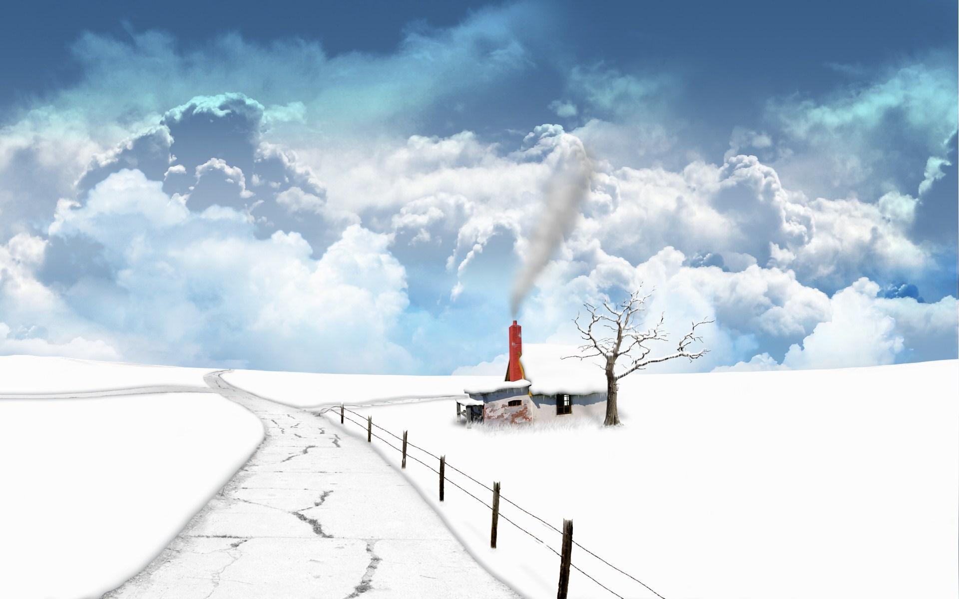 Fantasy - Landscape  Frozen White Snow Winter Wallpaper