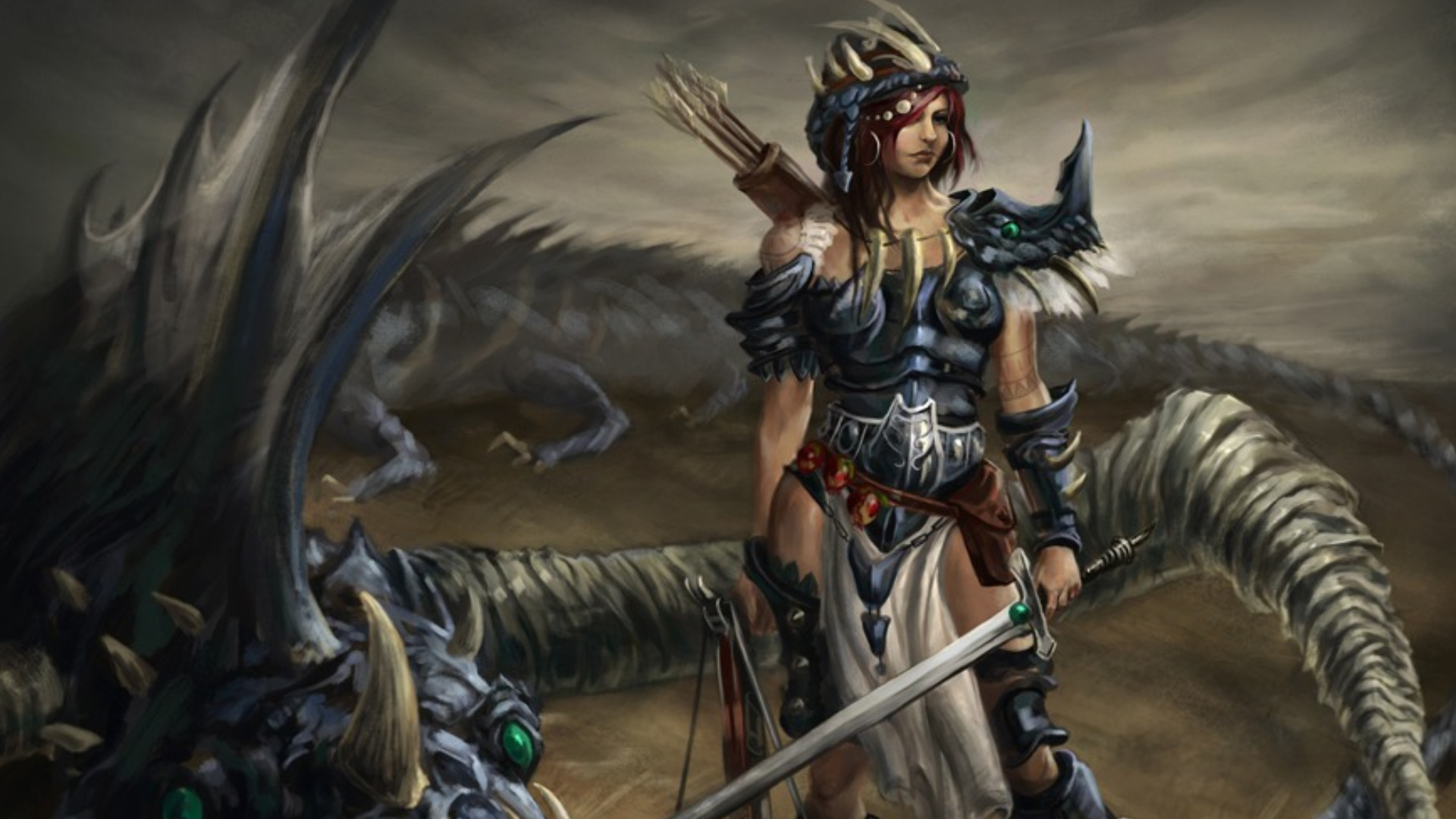 Women Warrior HD Wallpaper | Background Image | 1920x1080