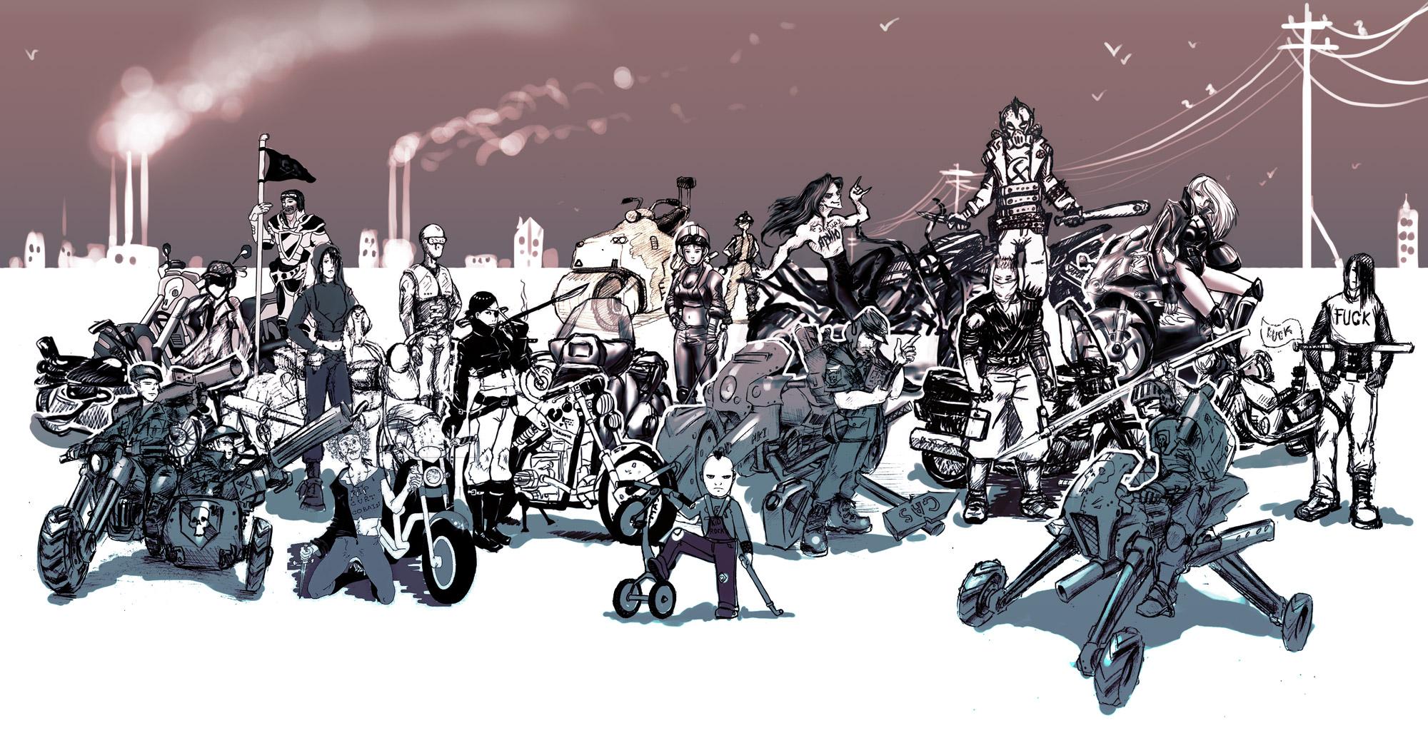 Http//dmitrysdeviantartcom/art/Russian Biker Gang Final
