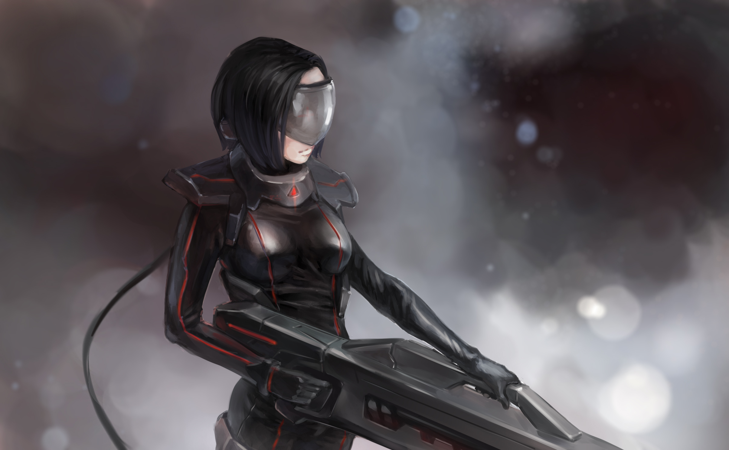 Alpha Coders Wallpaper Abyss Sci Fi Women Warrior 314882Anime Futuristic Warrior