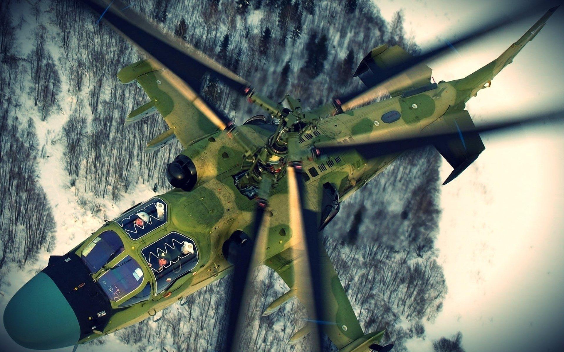 Military - Kamov Ka-52 Alligator  Russian Russia Aircraft Wallpaper