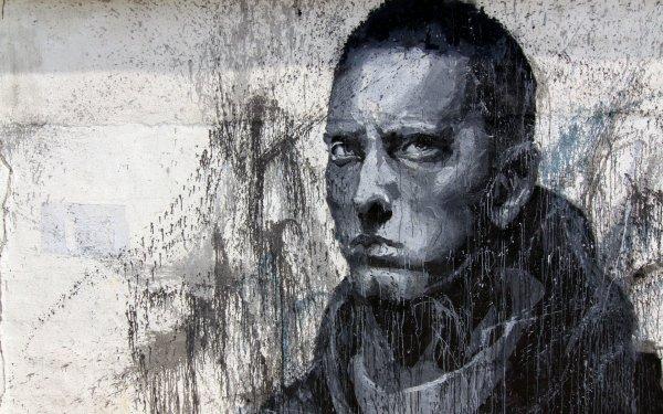 Music Eminem Singers United States Graffiti Trippy Psychedelic Urban Urban Art People HD Wallpaper | Background Image