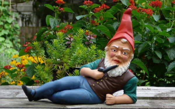 Fantaisie Gnome Statue Garden Gnome Fond d'écran HD | Arrière-Plan