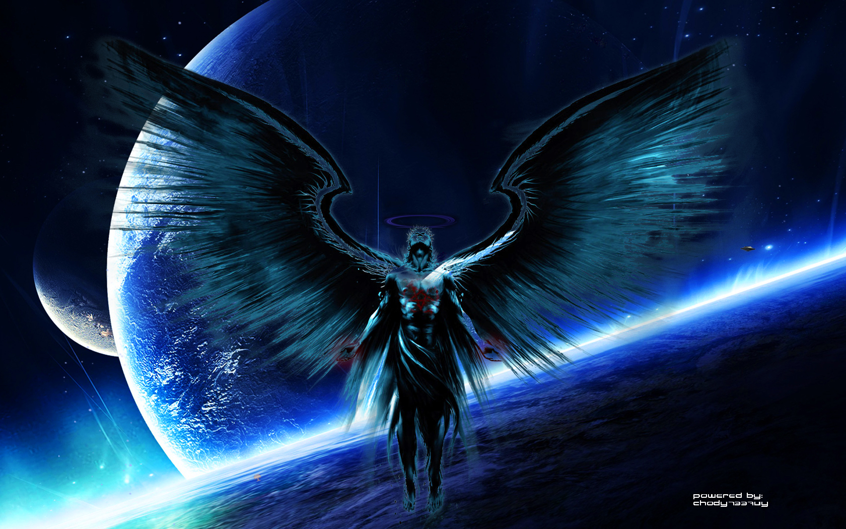 Angel wallpaper and background image 1680x1050 id - Dark gothic angel wallpaper ...