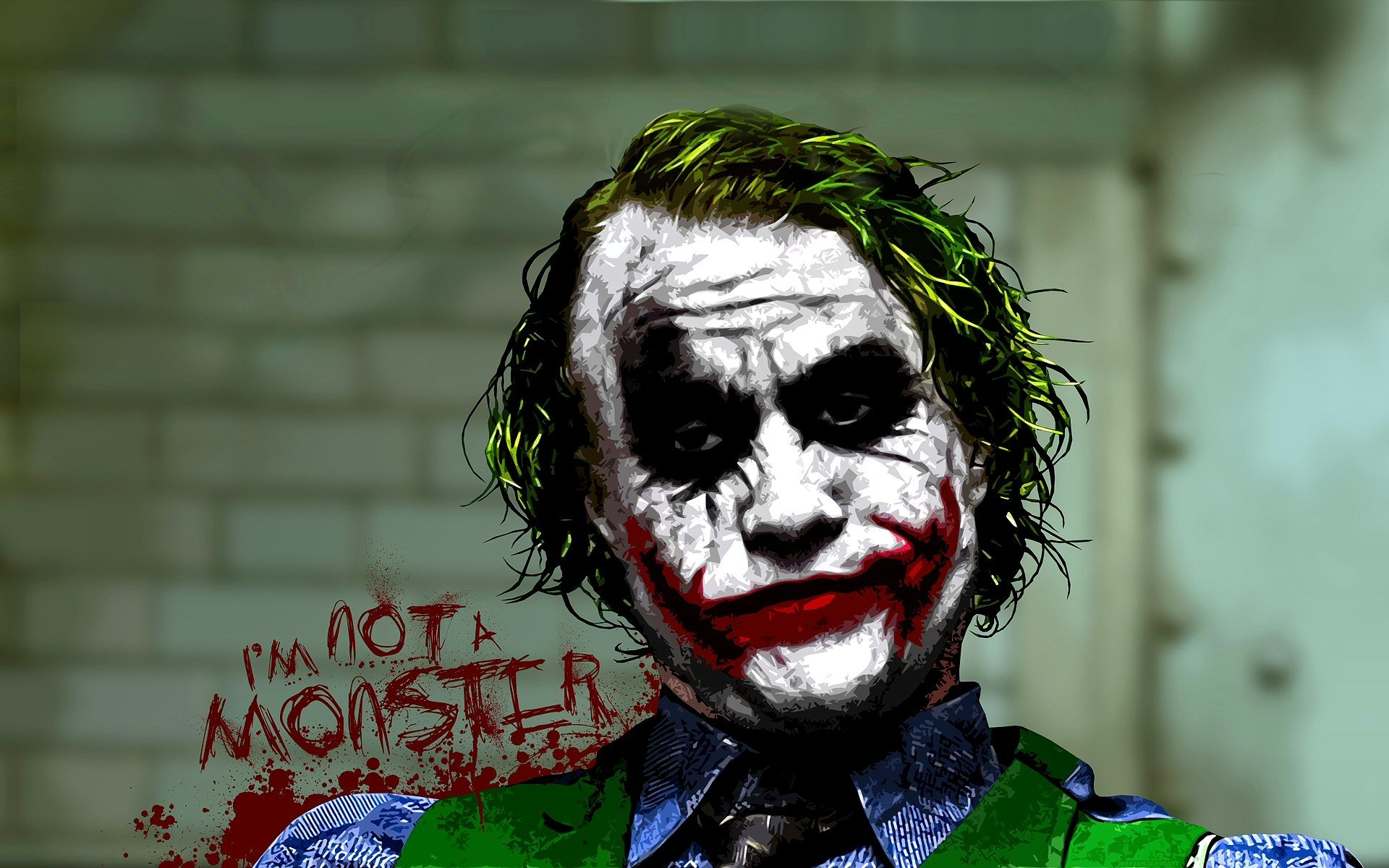 Movie - The Dark Knight  Artistic Movie Joker Wallpaper