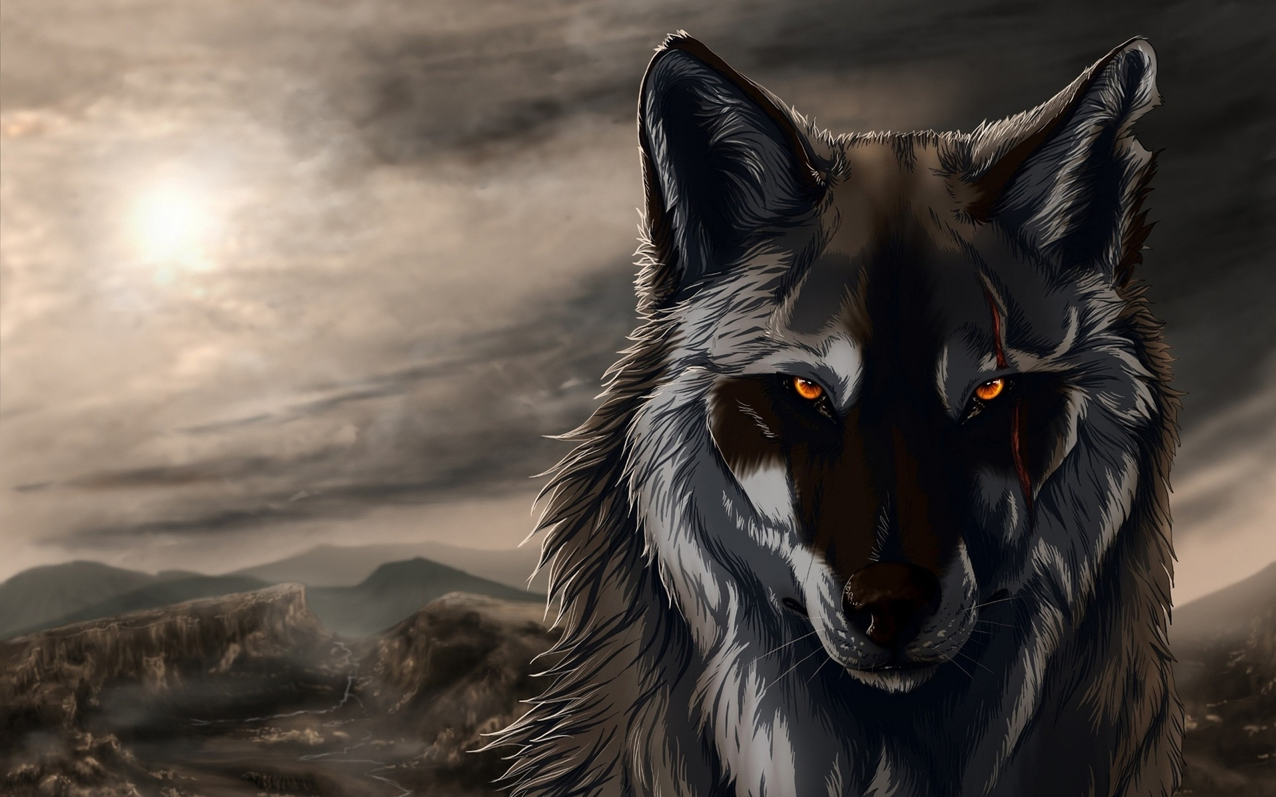 Hd wallpaper wolf - Hd Wallpaper Background Id 318728 2560x1600 Animal Wolf