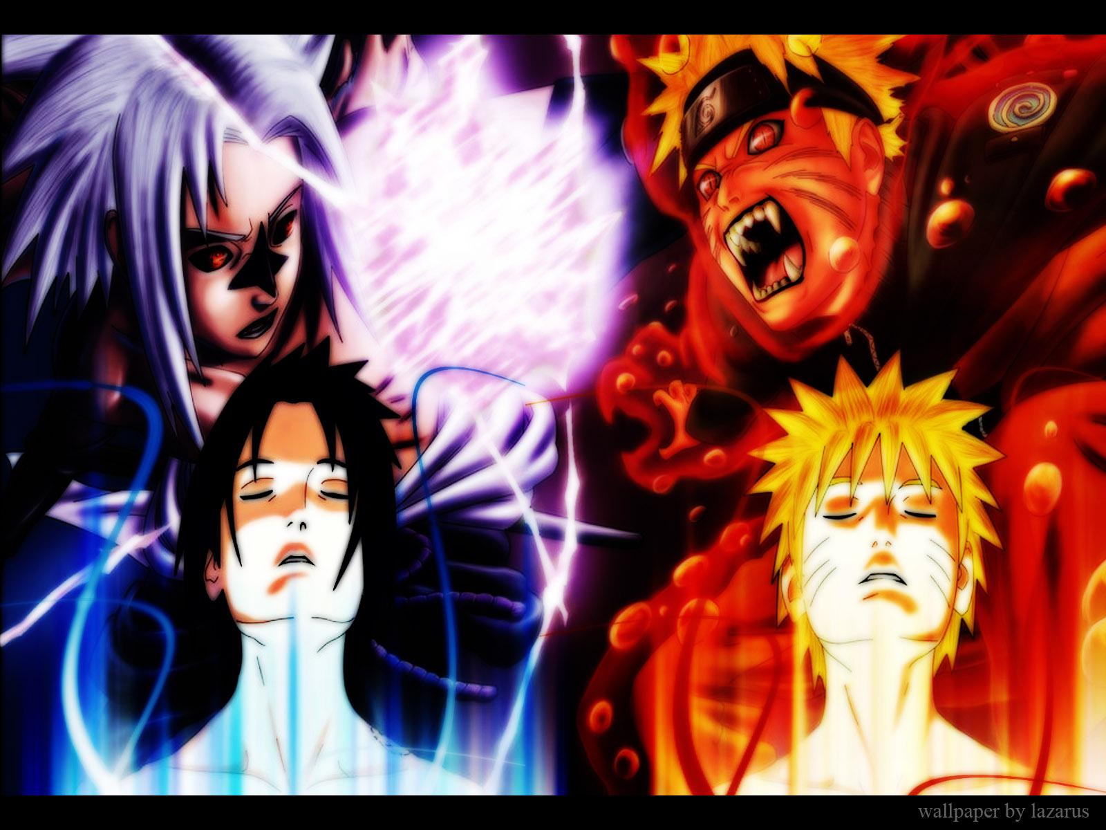Anime - Naruto  Sasuke Uchiha Naruto Uzumaki Wallpaper