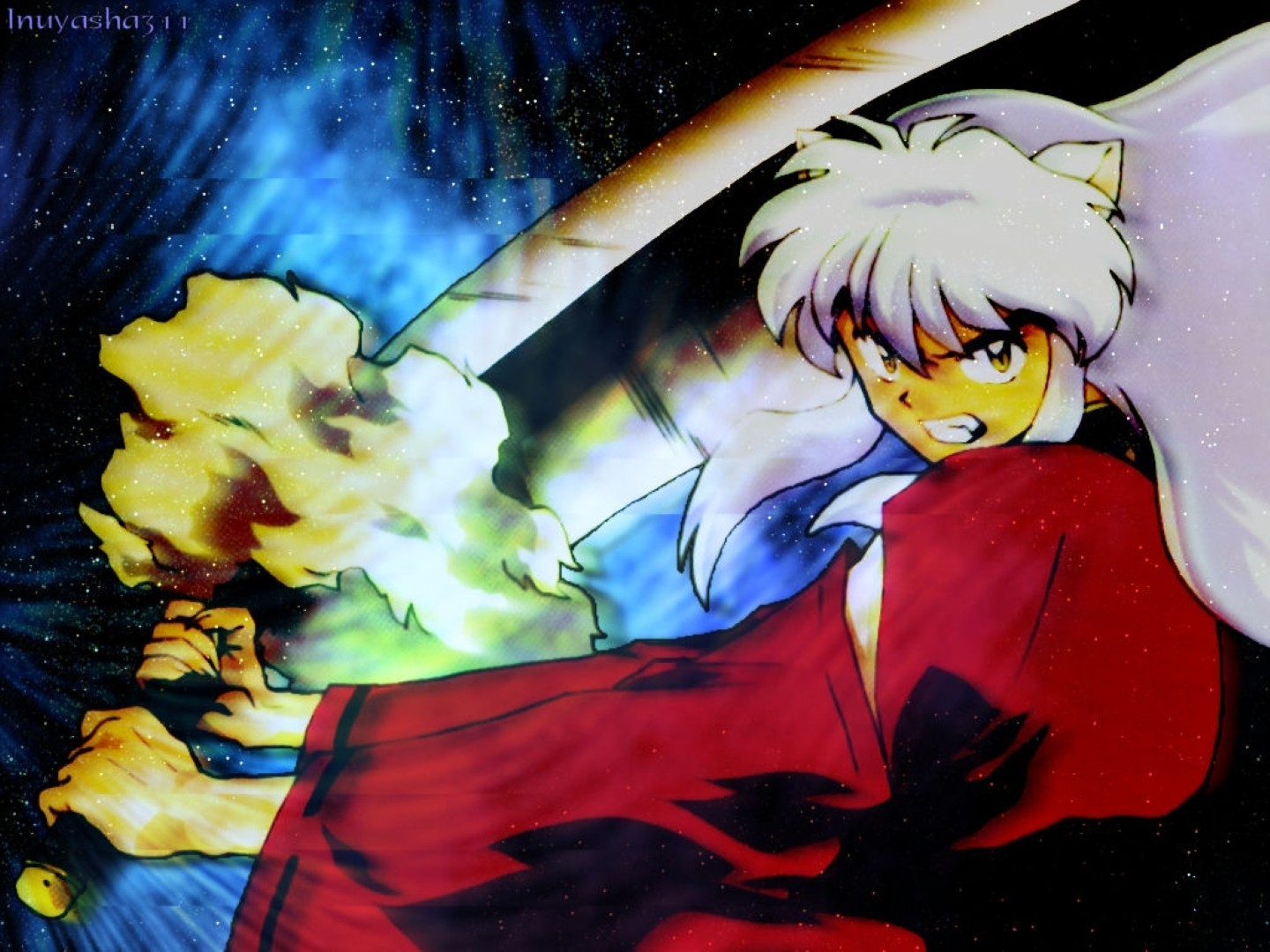 Inuyasha And His Sword Tessaiga Wallpaper And Background Image