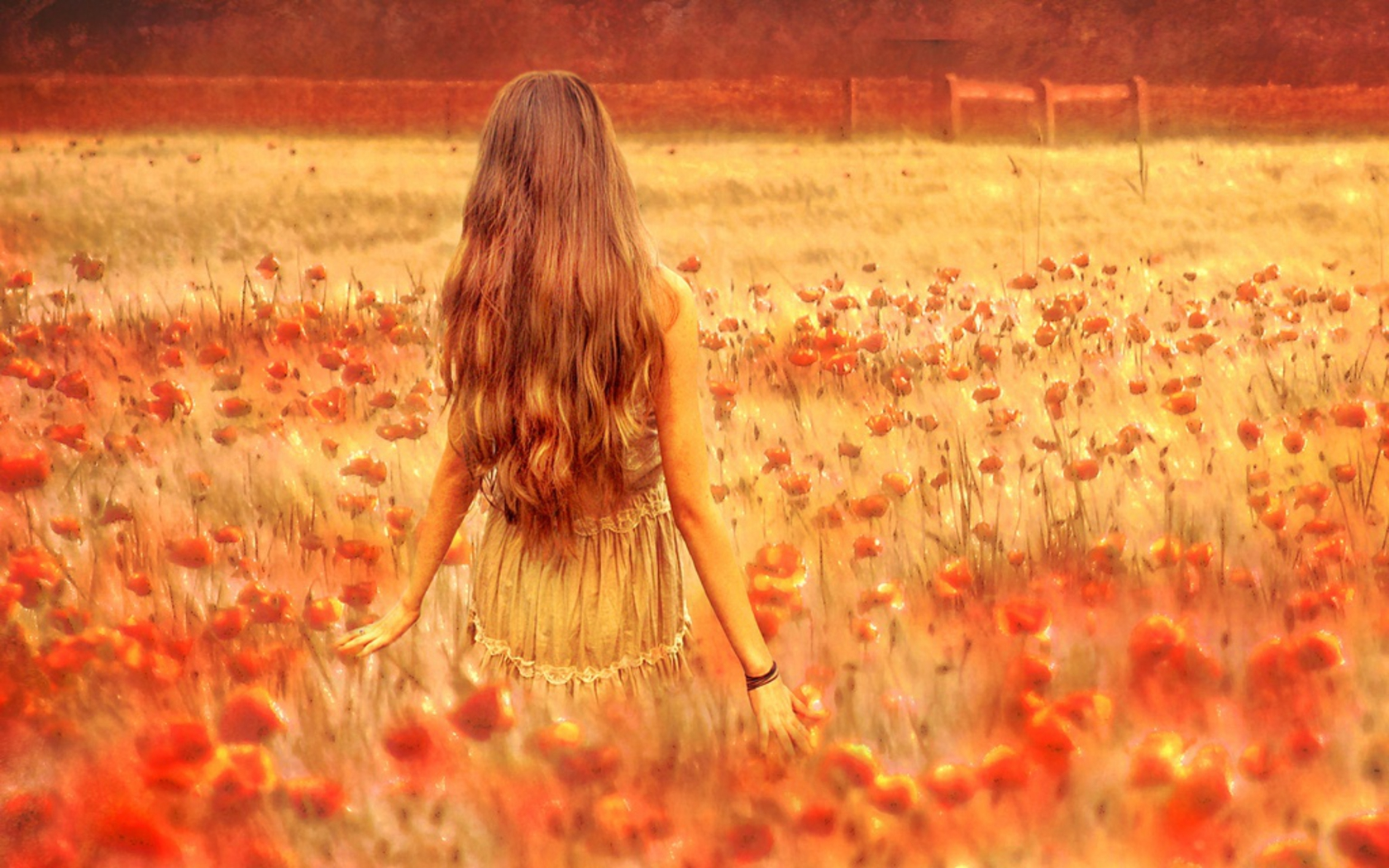 Fantasy - Women  Woman Flower Hair Wallpaper