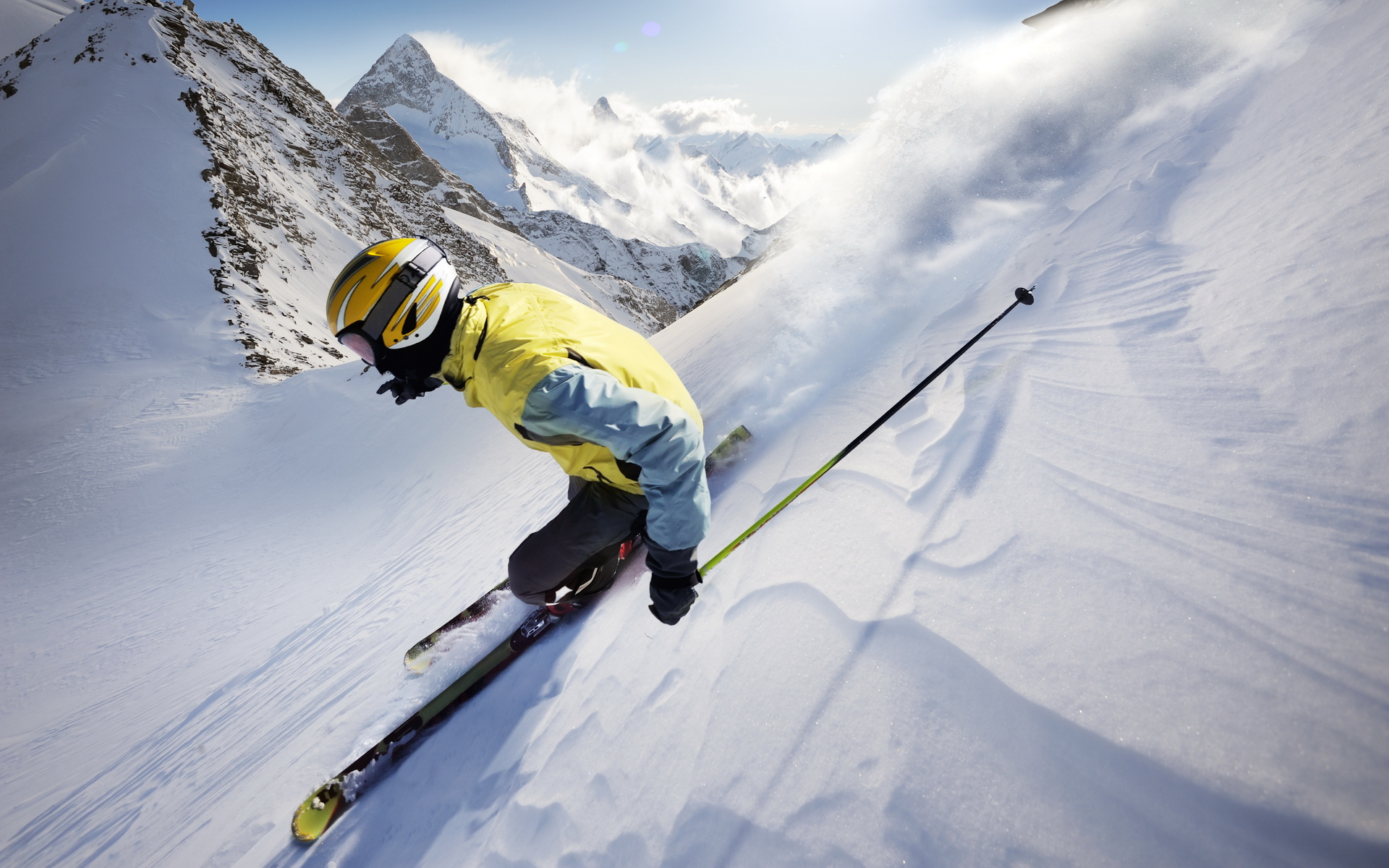 Skiing hd wallpaper background image 1920x1200 id - Ski wallpaper ...